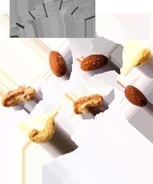 揺れるナッツ